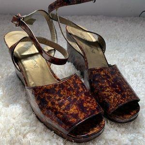 Yves saint lauren size 10 heels . Tortoise shell